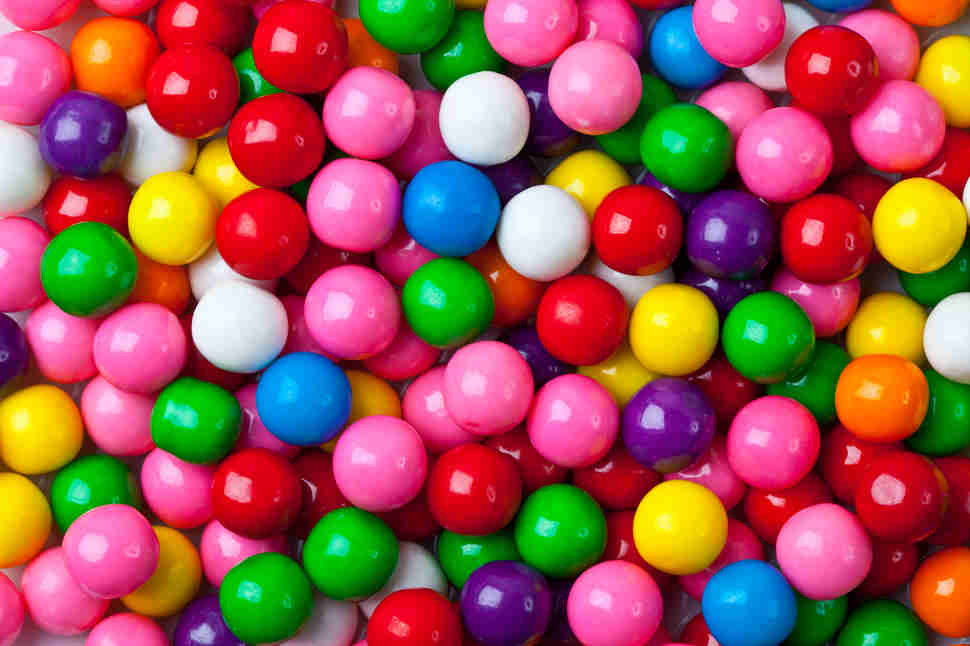 collection of colorful gumballs