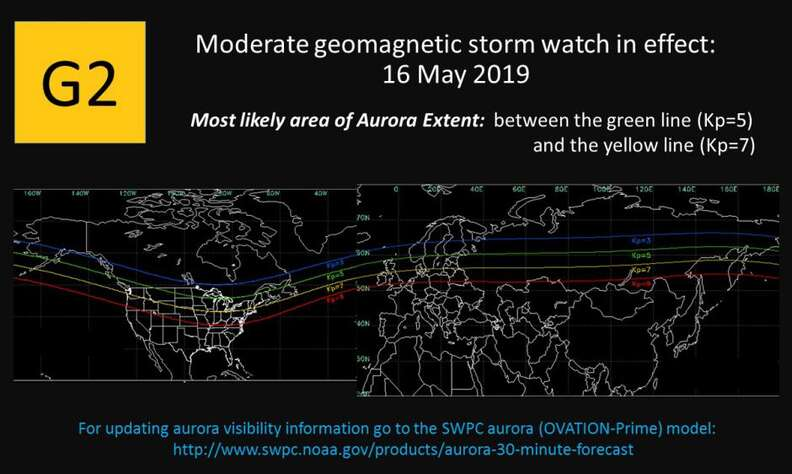 northern lights tonight May 2019