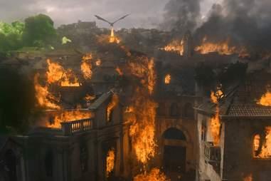 kings landing burning game of thrones