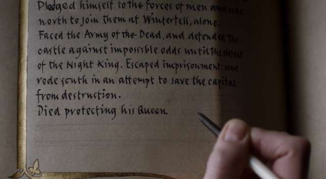 Game of Thrones Finale: What Did Brienne Write in the Book