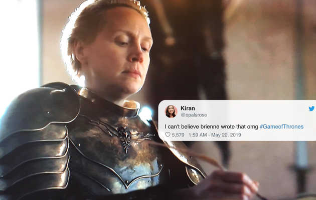 Brienne's Writing Scene Is the Funniest Meme From the 'Game of Thrones' Finale