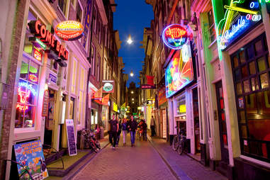 the red light district by night