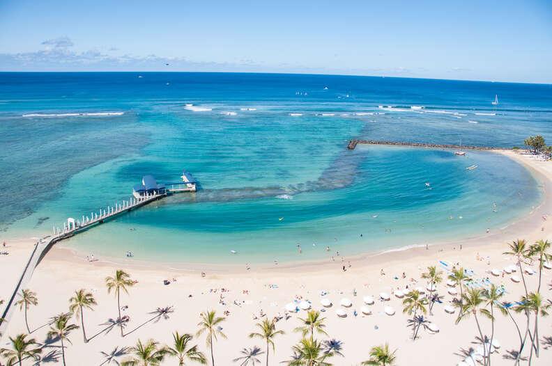 Waikiki Beach on the Hawaiian island of Oahu