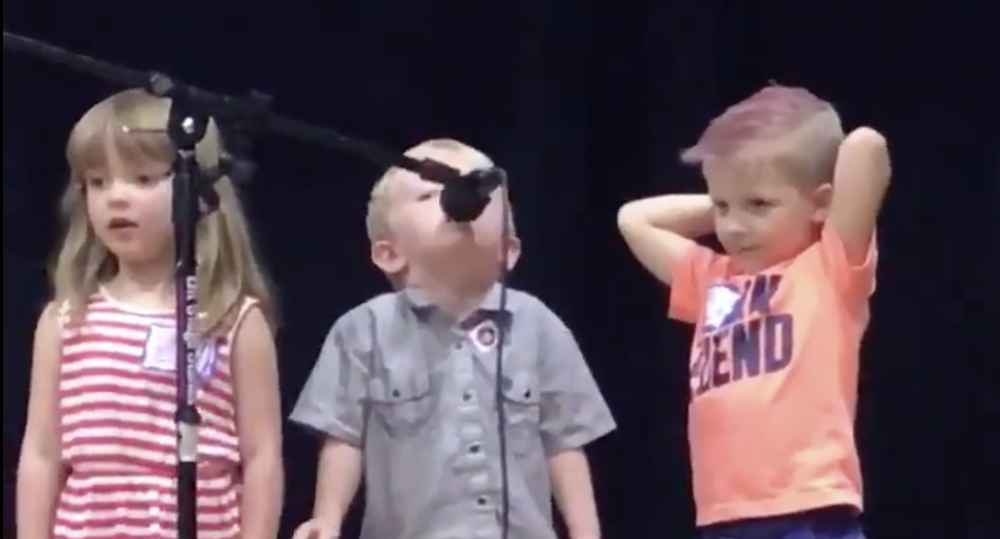 Kid Breaks Into 'Imperial March' During Talent Show Performance of 'Twinkle Twinkle'