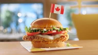 mcdonald's canada canadian chicken mozzarella tomato sandwich