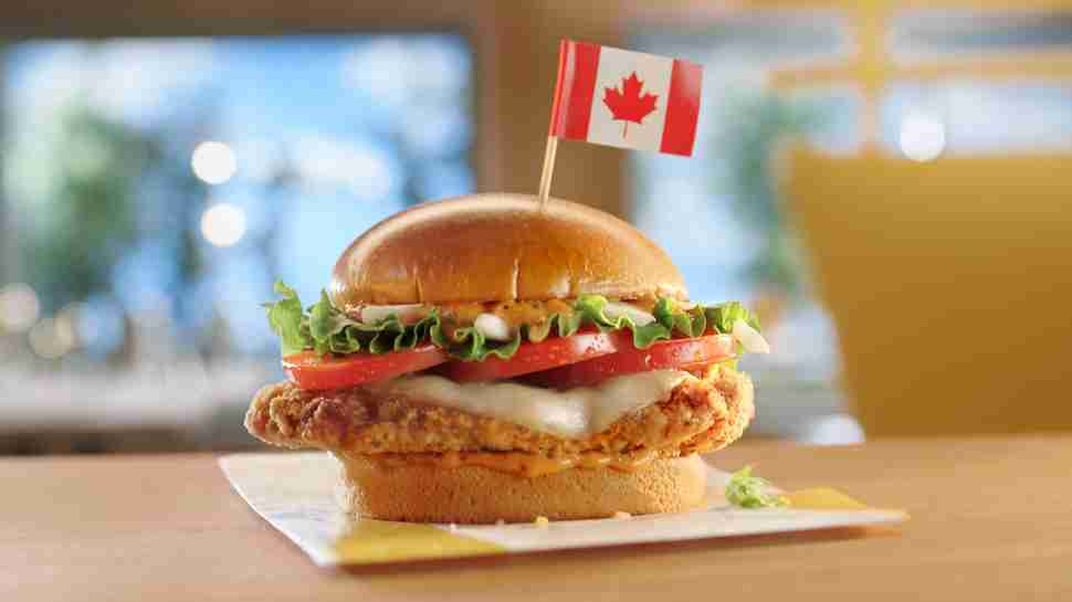 mcdonald's canada canadian chicken mozzarella tomato sandwich