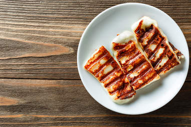 Greek Grilled Halloumi Cheese