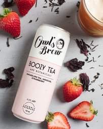 Owl's Brew Boozy Tea with Darjeeling Tea, Strawberry, and Hibiscus