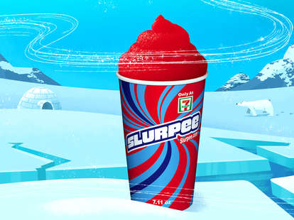 slurpy on ice berg