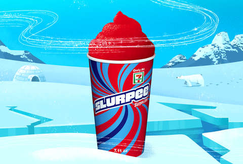 slurpy on ice berg