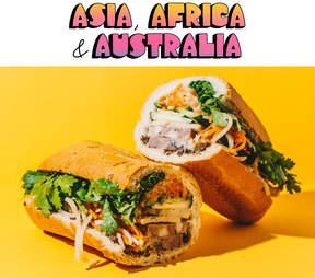 Asia, Africa & Australia and banh mi