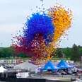 Balloons being released at Indy 500