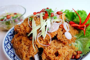 catfish salad thai cat fish sustainable seafood mango salsa