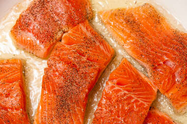 filets of red trout or arctic char fish filet sustainable seafood