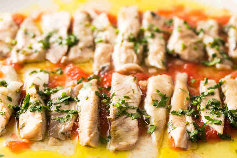 filets of albacore tuna