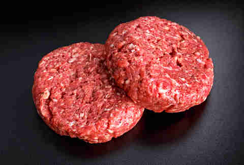 Raw Minced Beef steak burgers