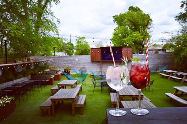 Wicklow Heights cocktails and patio