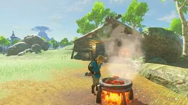 zelda link breath of the wild cooking