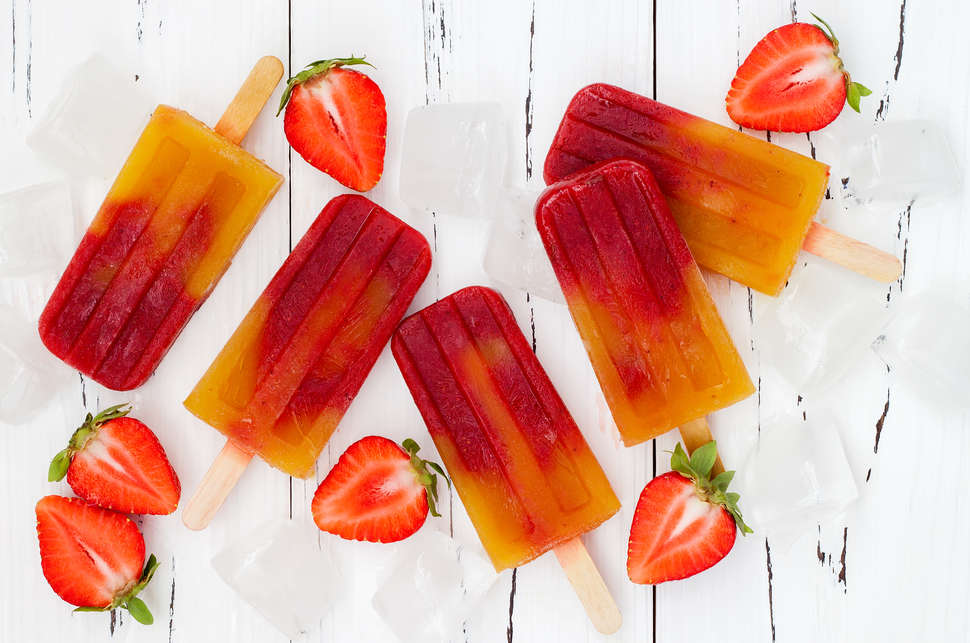 strawberry mango paletas