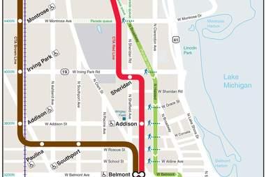 CHICAGO PRIDE route