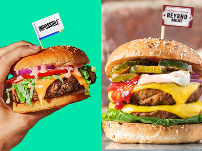 beyond meat and impossible foods burger