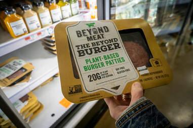 beyond burger patties grocery store vegetarian meat beef patty burgers