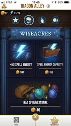 get spell energy harry potter wizards unite