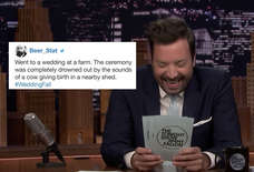 Fallon Cracked Up Over People's Wedding Horror Stories