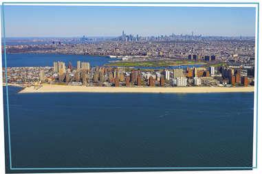 Aerial view of Coney Island Brighton Beach