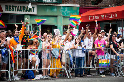 Crowds at NYC Pride March