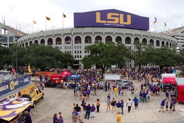 Tiger Stadium during a football game.