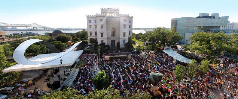 On Fridays in Baton Rouge, local crowds descend on Live After 5 to sway and groove to music.