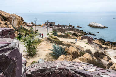 The Fort of Coquimbo in La Sirena juts right out into the Pacific.