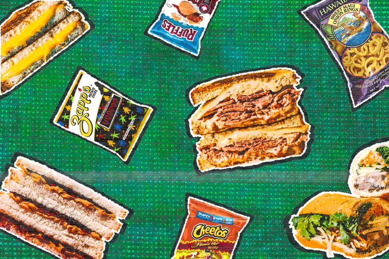chips and sandwiches