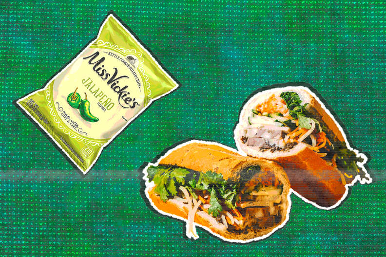 miss vickie's jalapeno chips and banh mi
