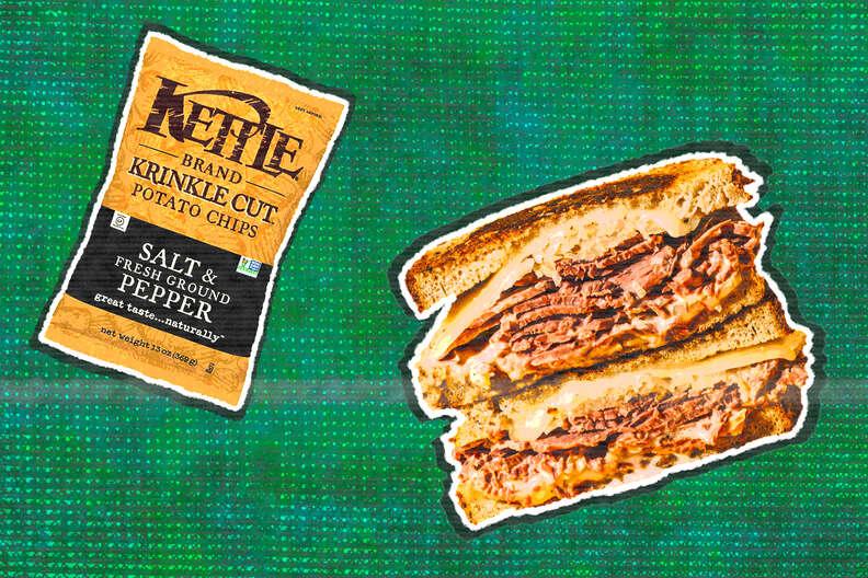 reuben sandwich salt and pepper kettle chips