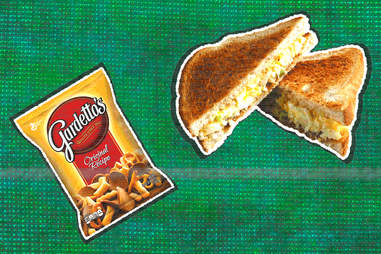 gardetto's and egg salad sandwich