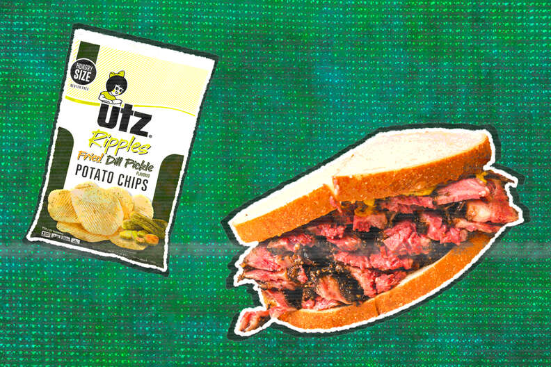 utz dill pickle chips and pastrami