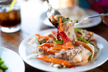 thai yum woon sen glass noodles