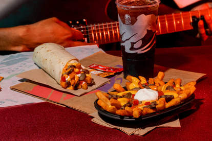 taco bell reaper ranch fries and burrito