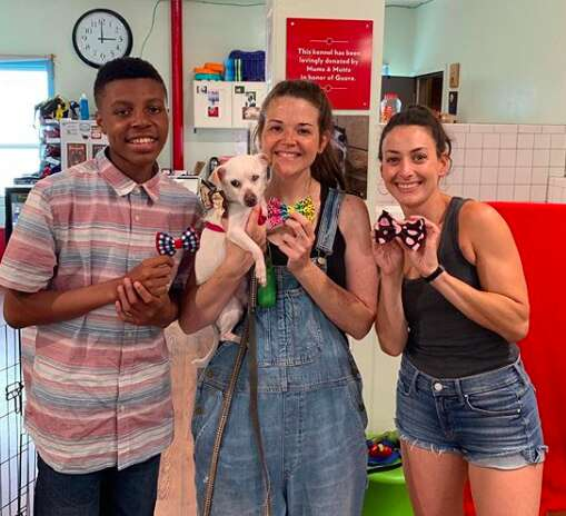 Darius Brown dropping off bow ties for shelter pets in Philadelphia