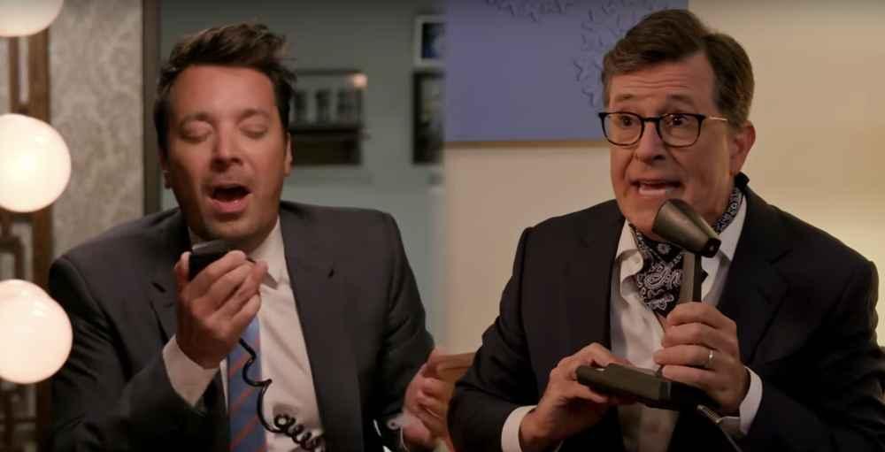 Jimmy Fallon & Stephen Colbert Did the NeverEnding Challenge from 'Stranger Things'