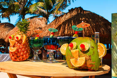 White sand, jewel-colored water, palapa'd beach bars… and not much else.