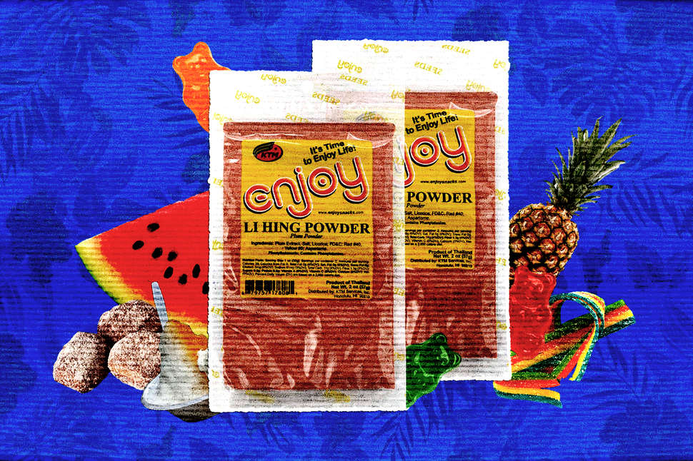 li hing mui salted plum powder