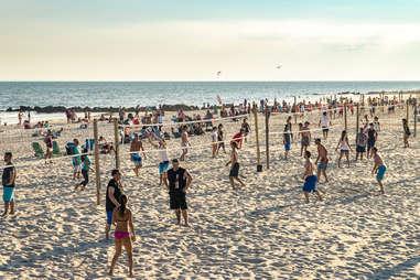 long Beach sand volleyball