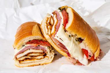 "Parisi Bakery sandwich ""The Dennis"""