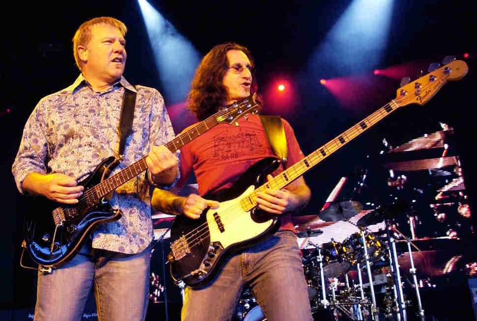 alex lifeson and geddy lee rush