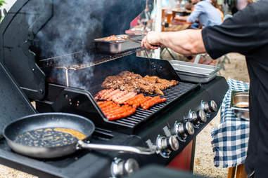 propane gas grill steak