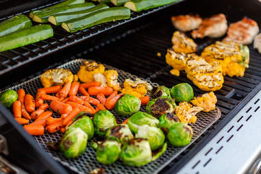 grilling vegetables propane gas grill