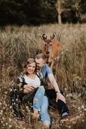 photobomb deer